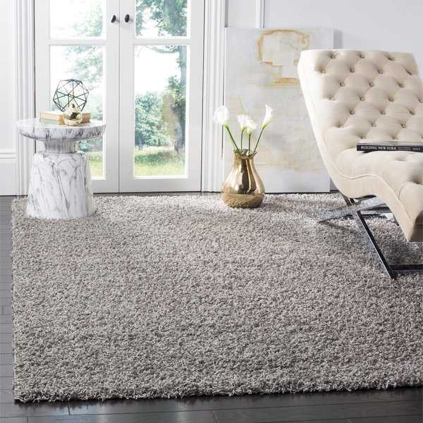 Coldwater Shag Light Grey Area Rug - 5'1' x 7'6'