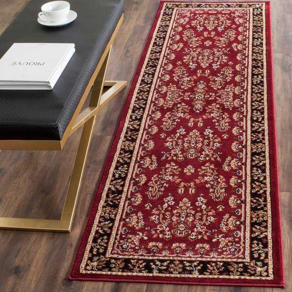 Safavieh Lyndhurst Traditional Oriental Red/ Black Rug - 2'3' x 10'